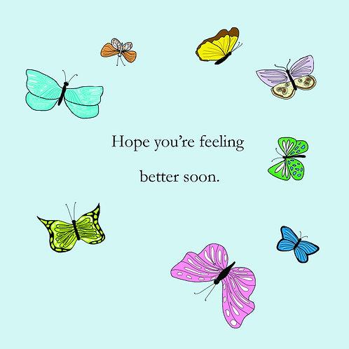 get well - butterflies