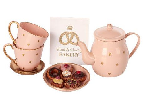 Tea and biscuits for 2 (pink set)