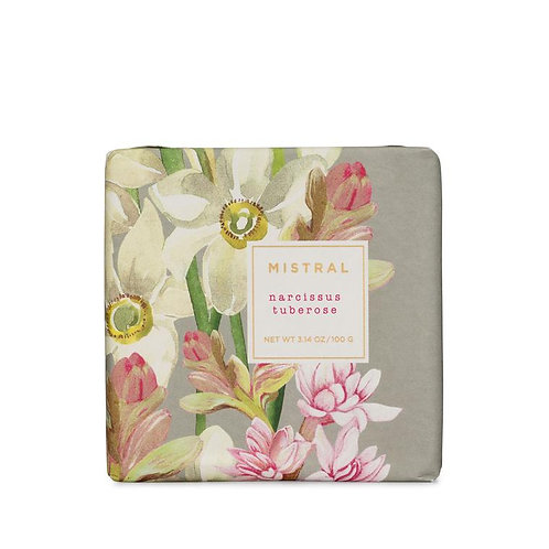 Mistral Exquisite florals Narcissus Tuberose petite gift soap