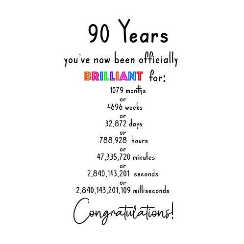 Brilliant 90th