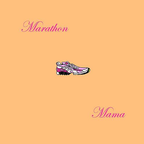 running - marathon mama (orange)