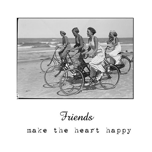 friends make the heart happy