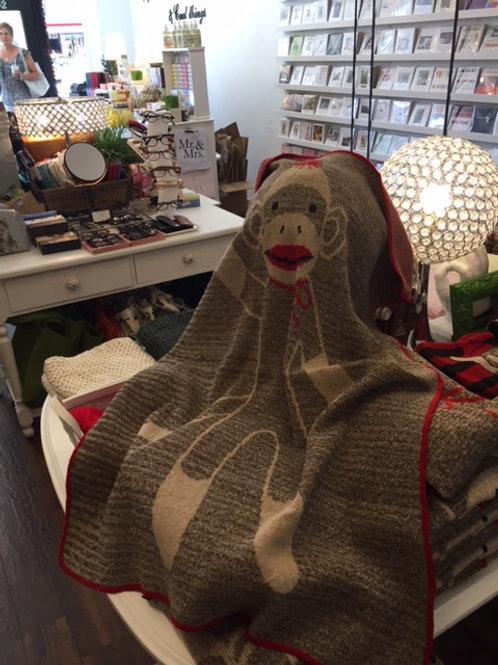 Green3 sock monkey blanket
