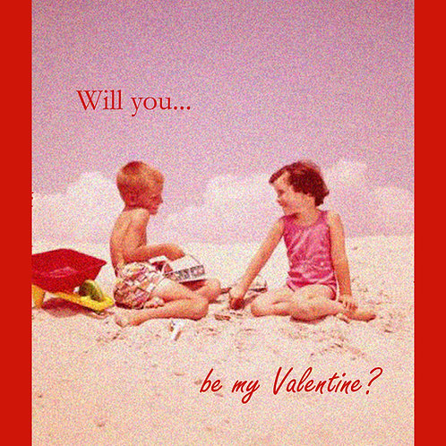 Valentines - beach kids