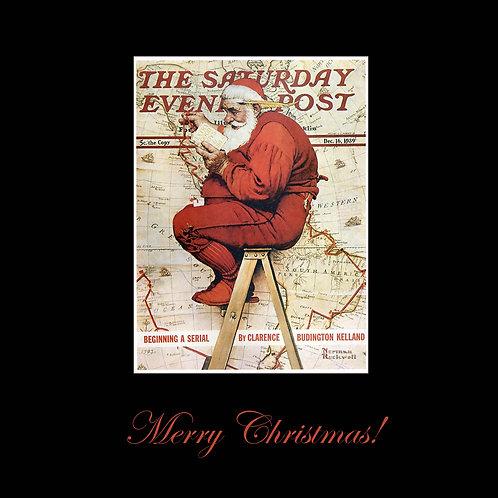 Saturday Evening Post Santa