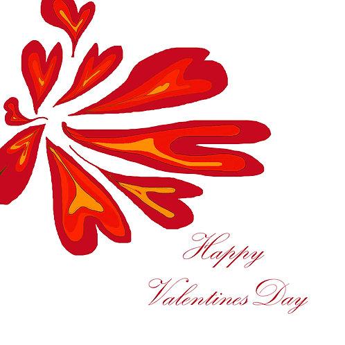Valentines - Splat flower