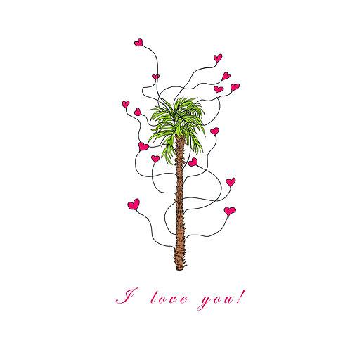 Valentines - Palm tree