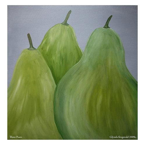 Three pears - Glynda FitzGerald