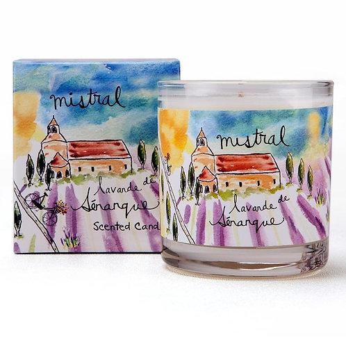 Senanque Lavender Sur la route glass candle