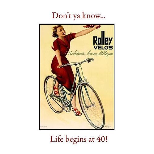 40th life begins at 40