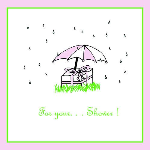 wedding shower - umbrella