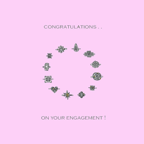 wedding engagement - rings (pink)