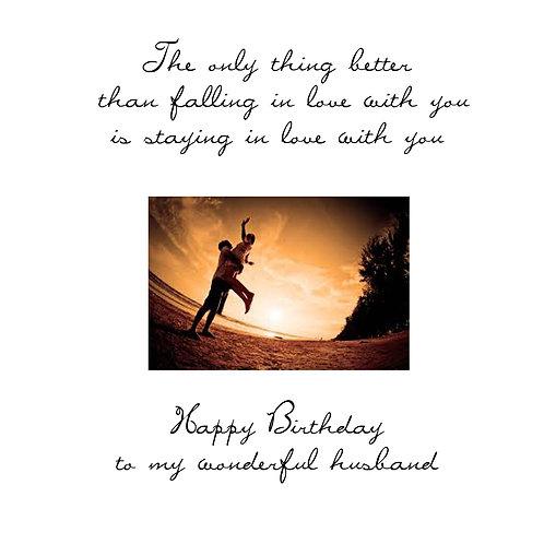 husband birthday -falling in love
