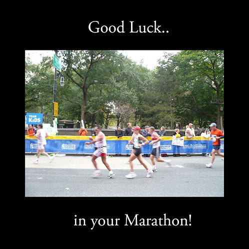 running - good luck in your marathon
