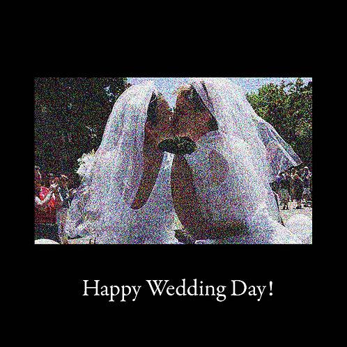 same sex wedding - kissing brides