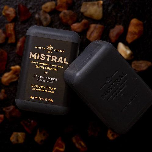 Mistral Black Amber men's soap