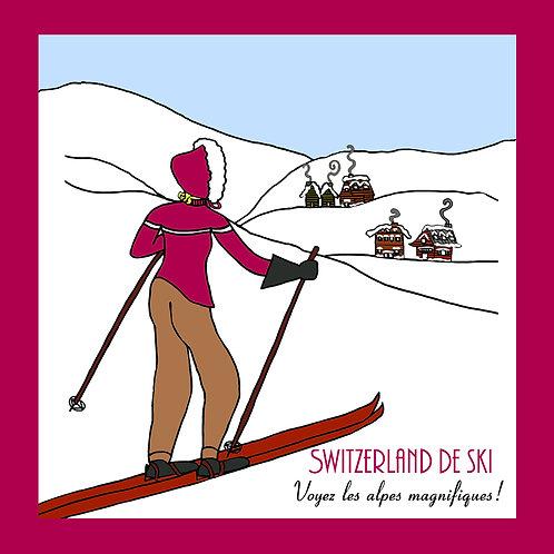 Vintage ski (Switzterland de Ski)