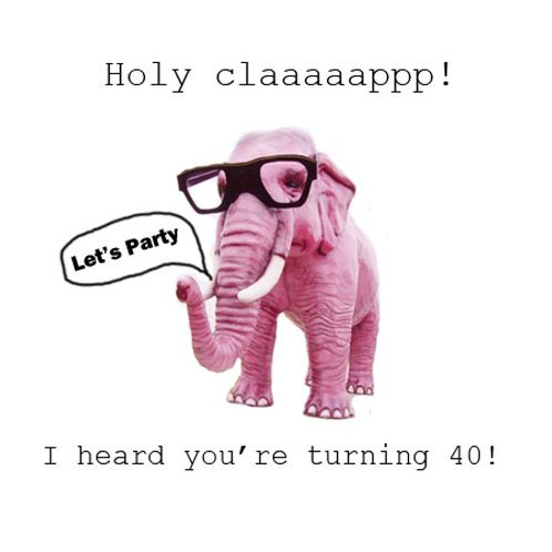40th pink elephant