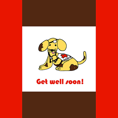 get well - medic dog