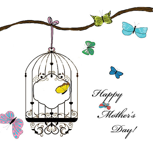 mother's day - butterfly cage