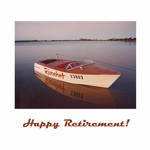 retirement - small wooden boat