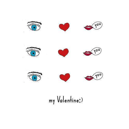 Valentine - Eye heart you icons