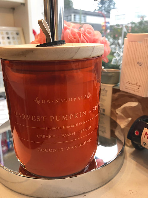 DW Home Harvest pumpkin & spice coconut wax candle