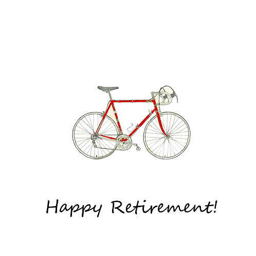 retirement - red bike