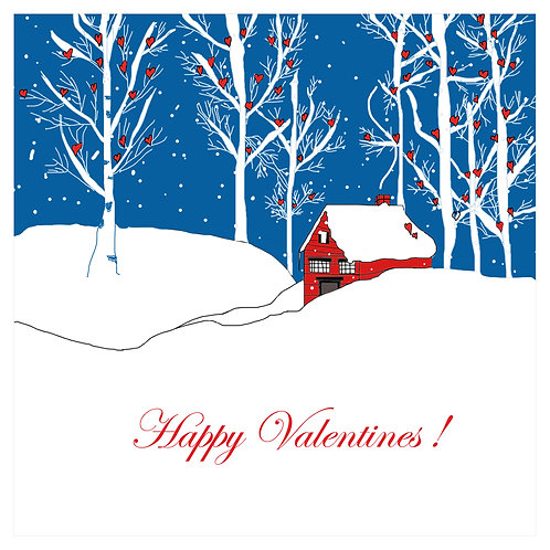 Valentines - snowy cabin