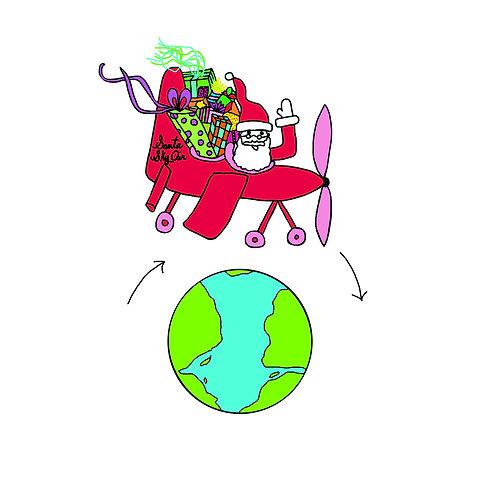 Round the world Santa