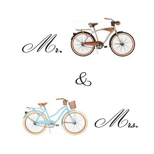 wedding - his & hers bikes