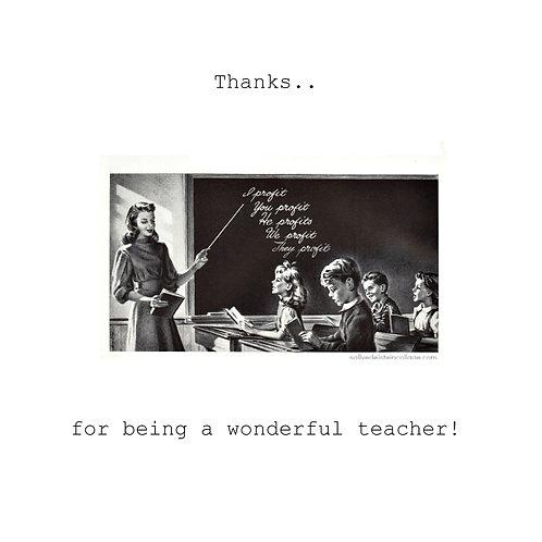 thanks -Retro teacher classroom