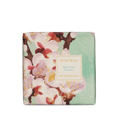 Mistral Exquisite florals Apricot fleuri Petite gift soap