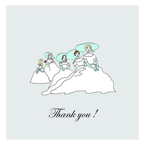 wedding shower thanks - bridesmaids