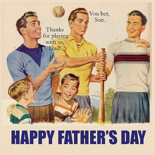 Father's day - cheesey baseball