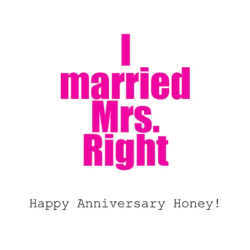 Ann. to spouse - Mrs. Right