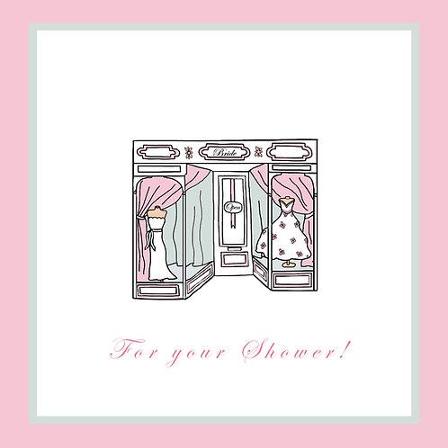 wedding shower -bridal shop