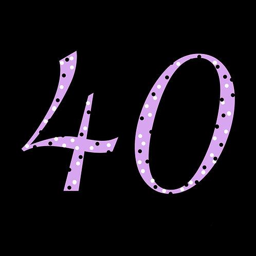 40th polka-dot