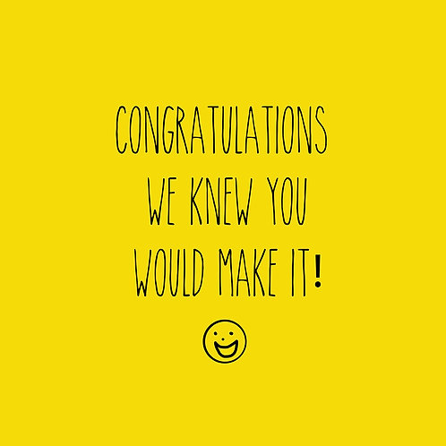 Congratulations - yellow happy face