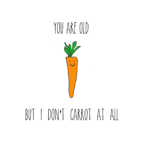 I don't carrot at all