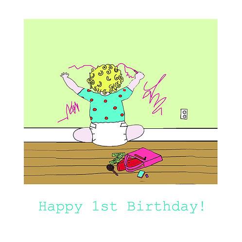 1st birthday - mischief