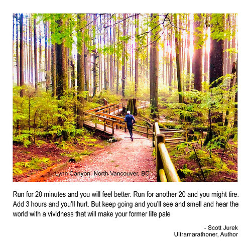 Trail running - Scott Jurek quote