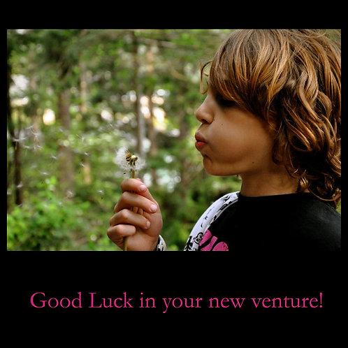 Good luck - Henry dandelion