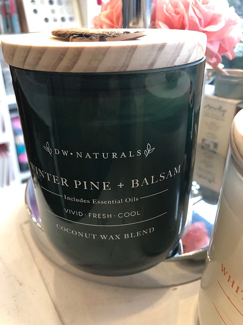 DW Home Winter Pine & balsam coconut wax candle