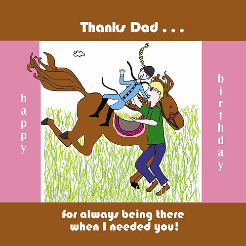 Dad - bucking bronco