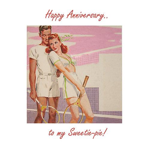 Ann. to spouse - retro tennis couple