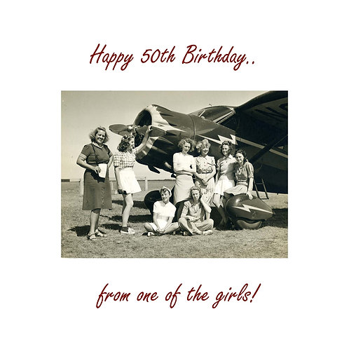 50th vintage plane gals