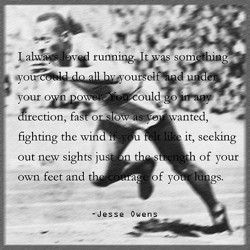 running - Jesse Owens quote