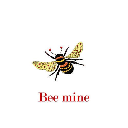 Valentines - bee mine (big bee)