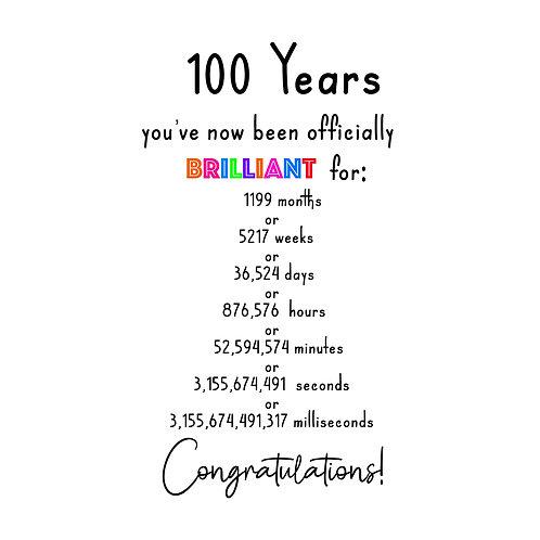 Brilliant 100th